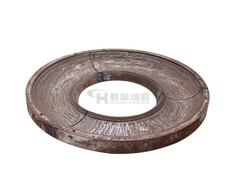 立磨磨盘堆焊