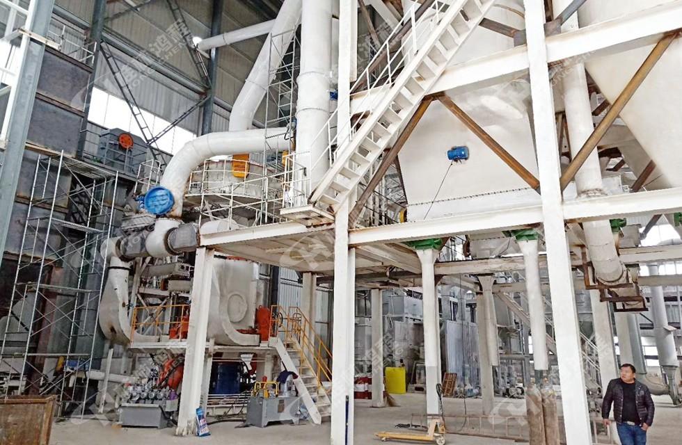 400目方解石碳酸钙立磨安徽生产线投产