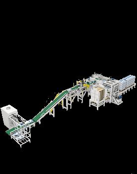 机器人包装码跺生产线