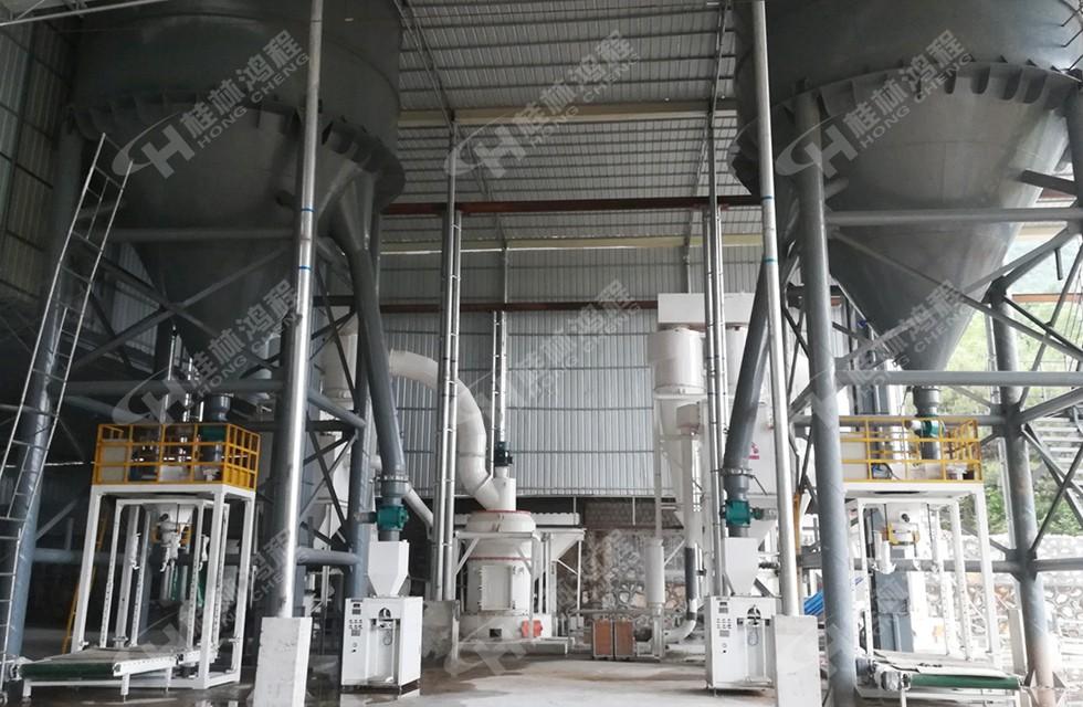 250目石油焦磨粉机设备广西某玻璃厂竣工投产