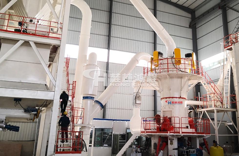 大理石磨粉机环辊磨1200目3吨东南亚生产线