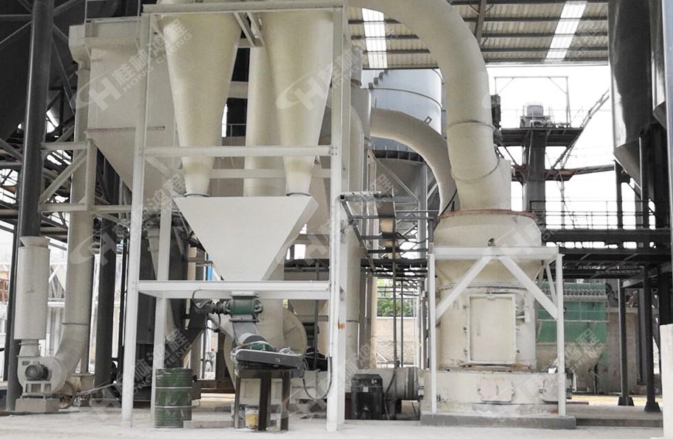 铜矿石磨矿设备HC摆式磨粉机安徽生产线投产