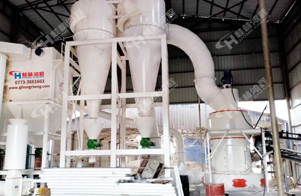 磨生石灰磨机HC1700纵摆磨粉机内蒙古兴安盟客户投产