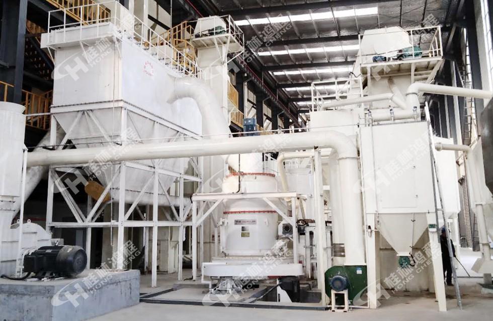 HCQ1500铝矾土熟料加工生产线雷蒙磨180-200目河南客户车间