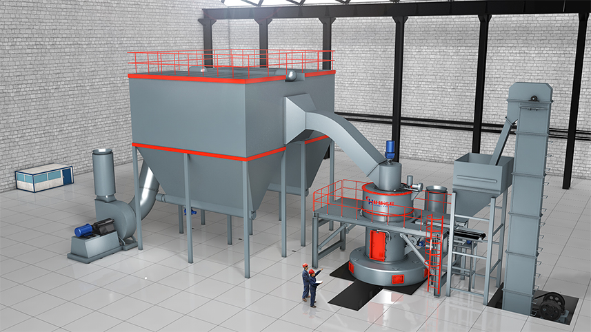 石油焦磨粉机设备HC摆式磨粉机生产线构成 成套设备组成