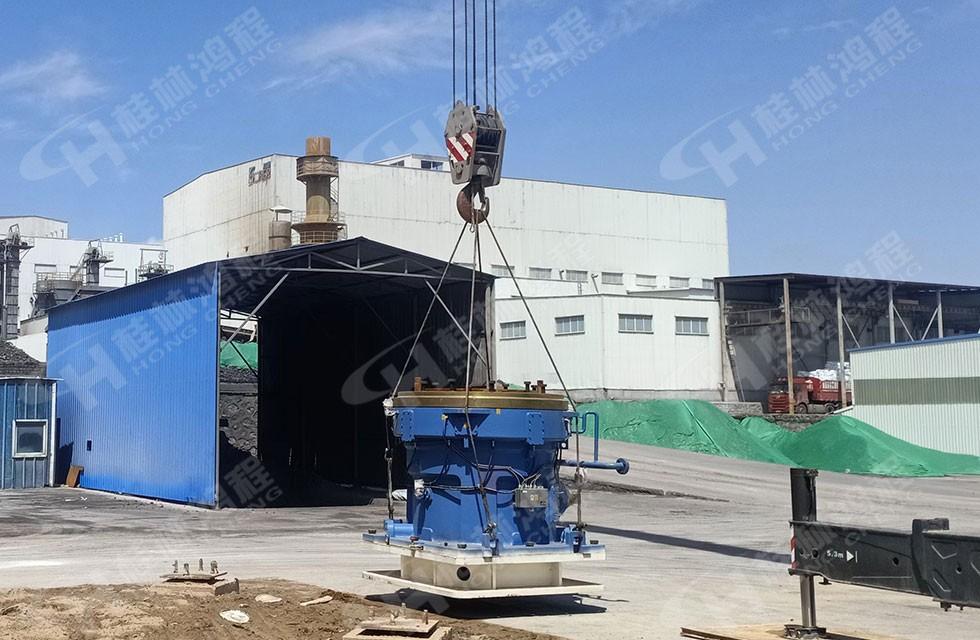 HLM2400煤矸石粉磨立磨机助力内蒙古煤矸石煅烧高岭土项目